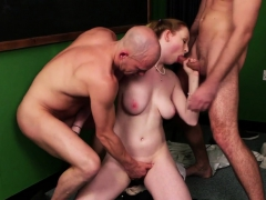 brit schoolgirl blows for facial in threesome