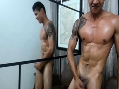 Lucas Sexy Muscled Latino Solo Masturbating