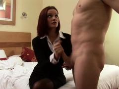 Redhead Cfnm Babe Jerking Dick In Amateursex