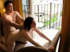 asian tourists enjoys sex in their fancy suite
