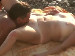 Husband Cunnilingus Mature Wife On The Beach