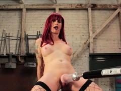 machine-fucked-redhead-tgirl-wanking-cock