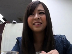 cute asian guzzles piss