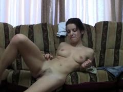 Handsome Brunette Masturbates On Webcam