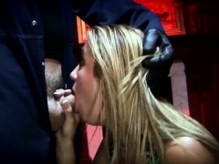 Busty Blonde With A Gas Mask Getting Fucked