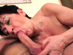 Old Granny Gets Creampied