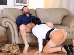 Big Tits Milf Ball Licking And Cum On Tits