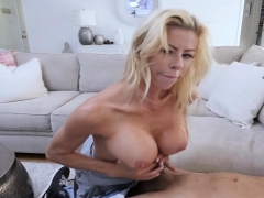 Horny Busty Milf Stepmom Gave Her Stepson A Cock Massage