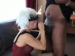 Wife Sucking Big Black Cock Hubby Films Interracial Cuckold