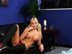 Busty Instructing Babe Helps Naked Sub