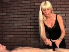 Cbt Mature Masseuse Tugs Blindfolded Client