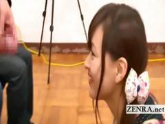 bizarre-japanese-av-star-penis-greetings-with-cumshot