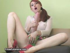 Dirty Redhead Babe Getting Horny Jerking Part1