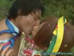 Japanese Girl Sucks A Papuan!