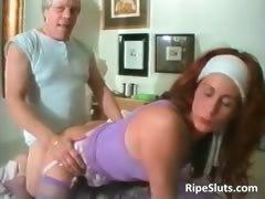 Mature Redhead Slut Takes That Big Hard Part2