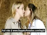 Lovely amateur lesbians kissing and having lesbian love