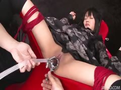 Hikaru Momose Tied Spread Wide Open In A Chair Her Naked