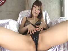 riona-suzune-is-oiled-up-while-she-plays-with-her-nipples