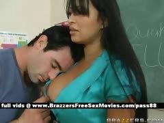 busty-brunette-teacher-at-school-going-through-an-earthquake