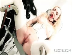 Bdsm Scene With Blonde Sex Slave Cunt Tortured For Piss