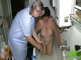 Nasty old lady gets her hairy cunt part6