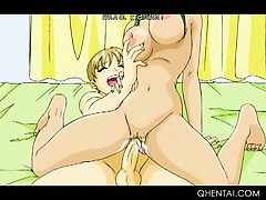 hentai wild girls licking and humping twats with strapon