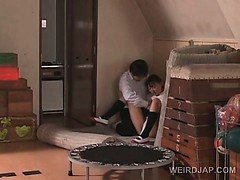 Appealing Asian School Doll Pussy Nailed Deep From Behind