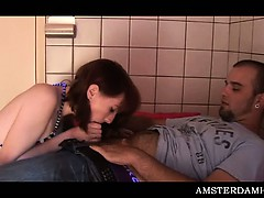 Amsterdam Teen Bitch Sucking Dick And Getting Twat Rubbed