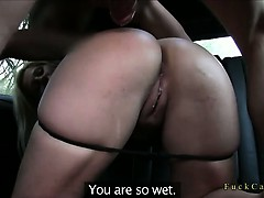 Amateur Fucked In Fake Taxi In Public Place