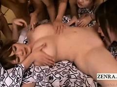 Subtitled Japanese Lesbians Voluptuous Idol Oral Orgy