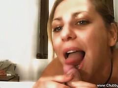 bbw italian amateur blowjob