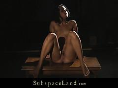 Dom Male Takes Brunette In Dark Bondage