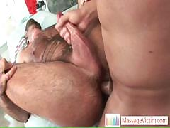 Bear Gets His Hairy Asshole Fucked By Massagevictim