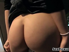 Nerdy Coed Violette Pink Fucked At Mall