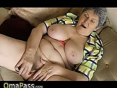 Bbw Granny Plaing With Electro Toy Omapass