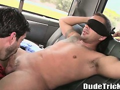 Straight Stud Gets Blowjob From A Skinny Amateur