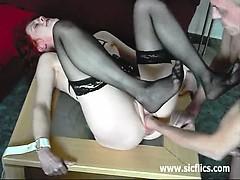 skinny-wife-fist-fucked-in-bondage