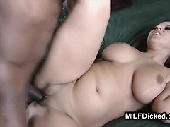 Busty Milf Stretching Pussy With Black Dick