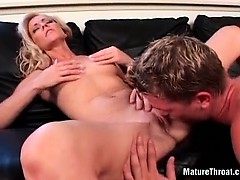 She Enjoyed In His Naughty Tongue On Her Clit And Pussy Lips