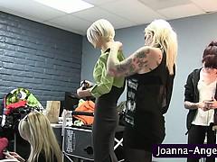 Tattooed Slut Shows Pierced Pussy