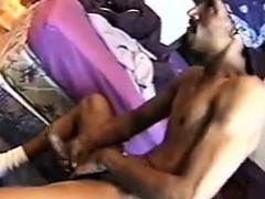 Ebony Guy Masturbating