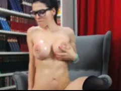 Webcam Girl With Glasses Great Show