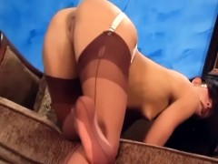 teasing-and-fingering-in-sexy-thigh-high-nylons