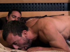Gay Stud Wakes Partner With Bj And Some Anal