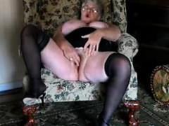 57 Years Old Eva Masturbates In Living Room