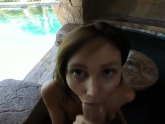 Hot Babe Ariana Sex Beside The Pool Pov