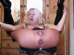 Horny European Grandma Toyed With And Squirts