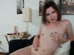hot-chick-in-red-lengerie-strips-naked-rubbin