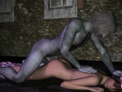 3d Cartoon Babe Getting Fucked Outdoors By A Zombie