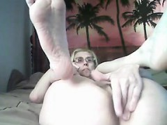 Naughty Granny Teasing Her Pussy And Ass
